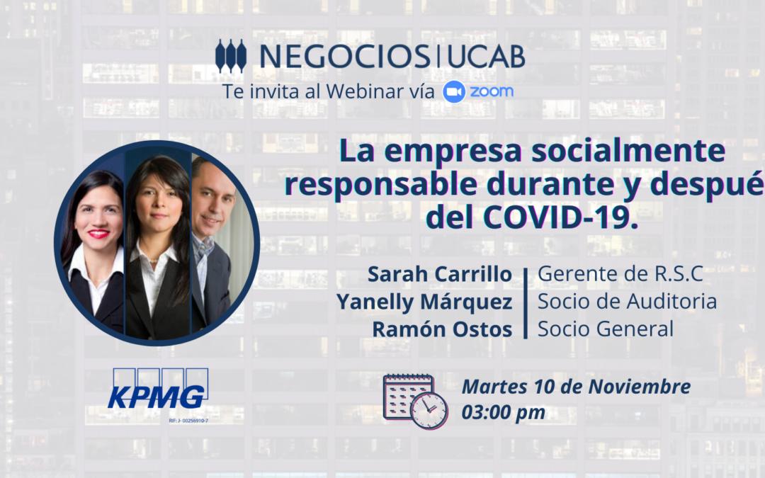 La empresa socialmente responsable durante y después del COVID-19
